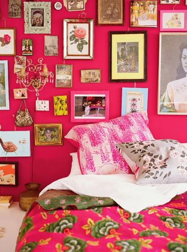 Querido Refúgio Blog de decoração Decoração romântica e  ~ Quarto Rosa Fucsia