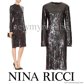 Queen Maxima wore NINA RICCI Sequinned dress