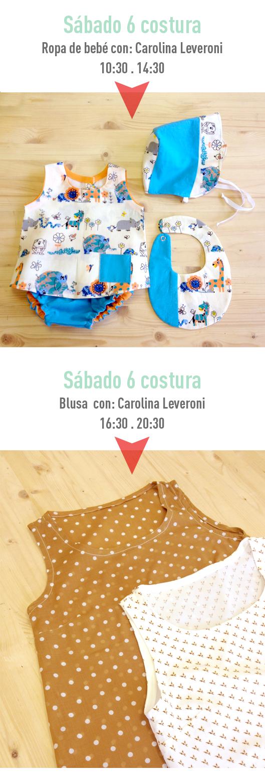 Monográficos en Trapo y Tela ropa de bebe y blusa
