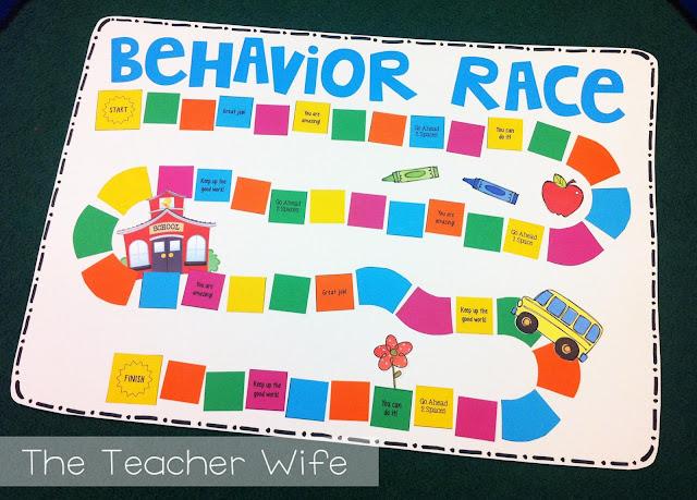 Design Your Classroom Games ~ The teacher wife racing for good behavior