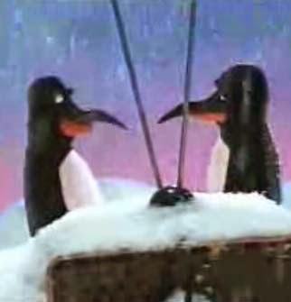 Don and Herb South Pole Puppet Penguins of Beakman's World