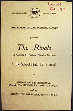"Tal Handak School Play - ""The Rivals"" - 1953"