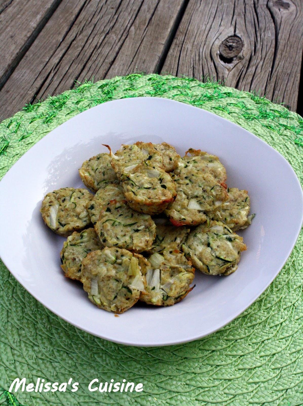 Melissa's Cuisine: Zucchini Bites