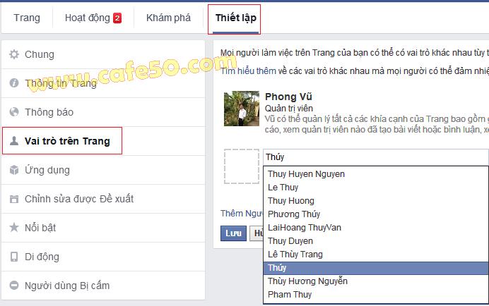Cách thêm Admin cho trang (Page) trên Facebook (FB)