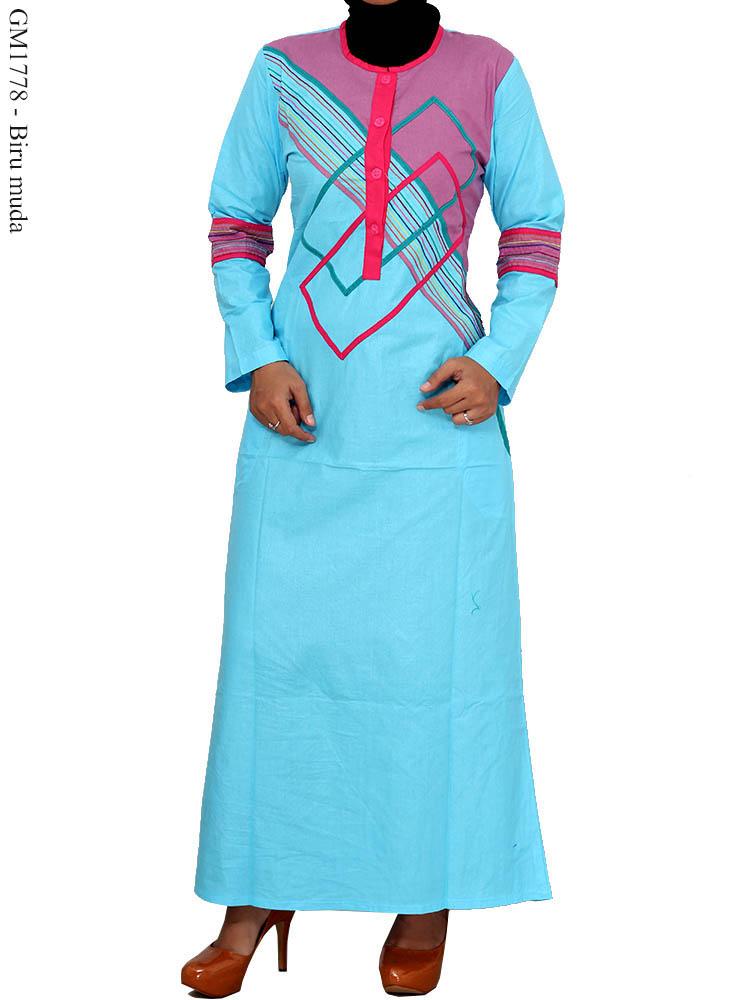 Gamis Cantik Muslimah Gm1778 Busana Muslim Murah Terbaru