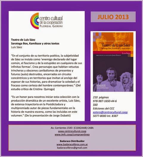 Teatro de Luis Sáez Ediciones CCC