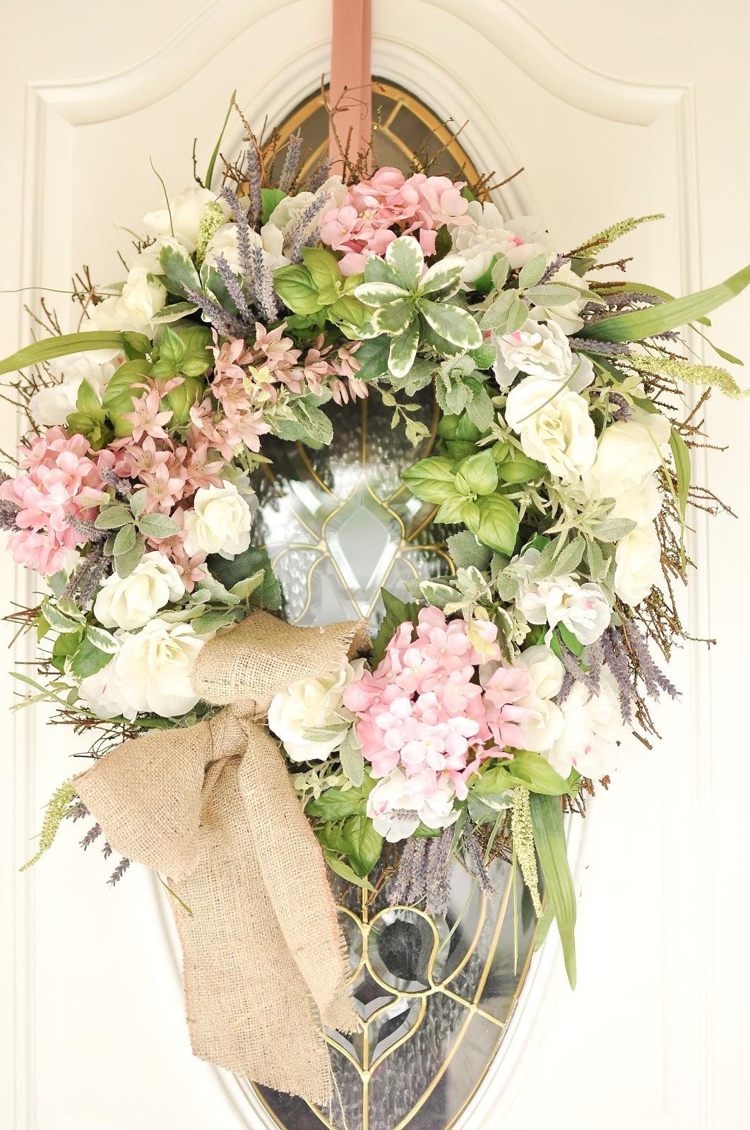 domestic fashionista spring wreath