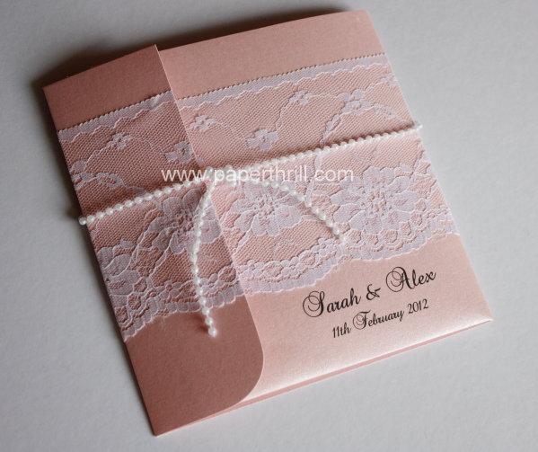 Sarahs Pocket Lace Wedding Invitation Malaysia Wedding Invitations Greeting Cards And