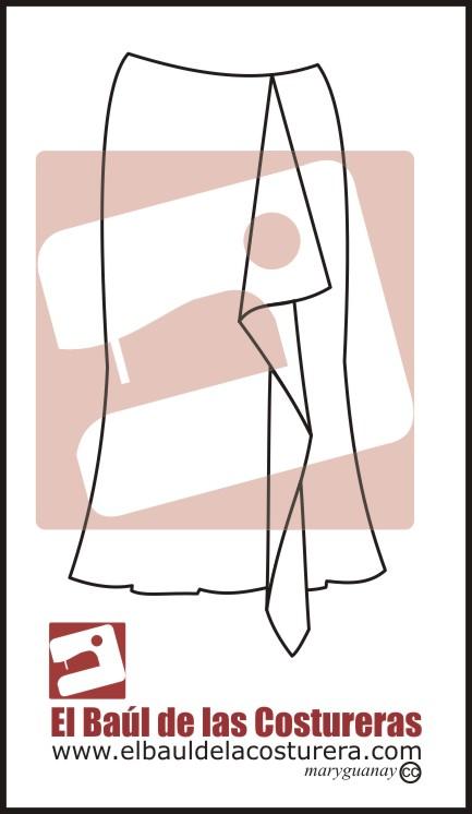 Jabot fácil para blusa, vestido o falda ...
