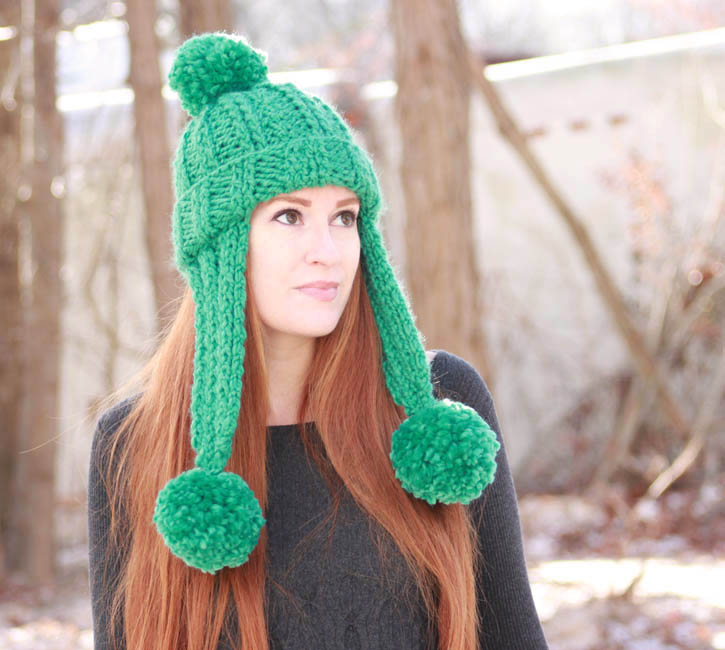 Knitting Pattern Ladies Hat With Ear Flaps : Trifecta Ear Flap Hat [knitting pattern] - Gina Michele
