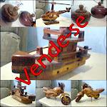 Vende-se Miniaturas em Madeira !