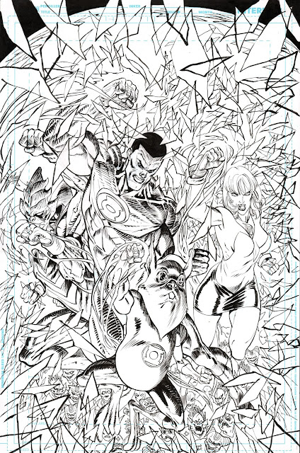 GREEN LANTERN: LOST ARMY cover process (2)