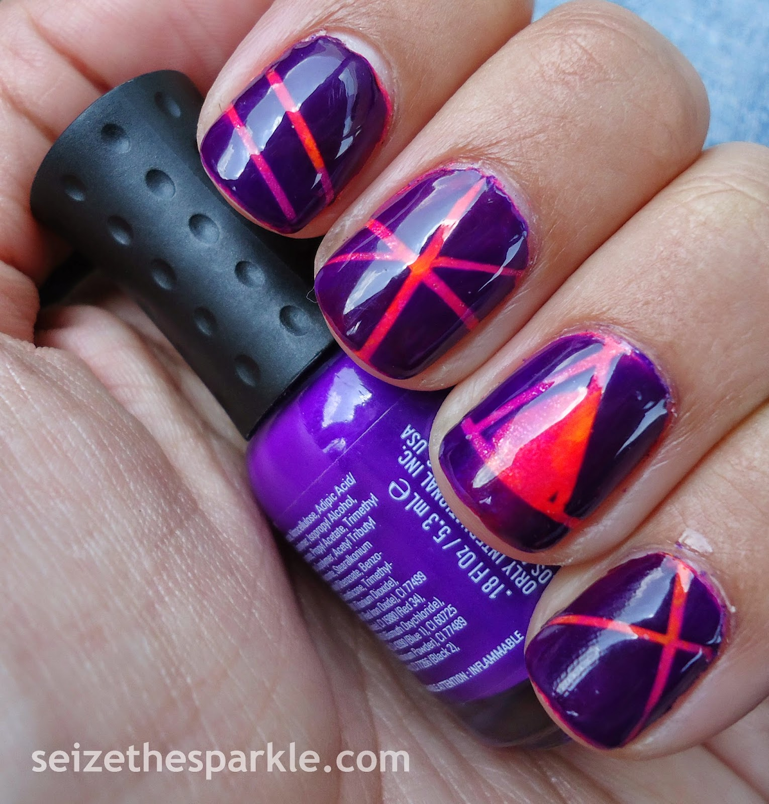 Orly Baked Striping Tape Manicure