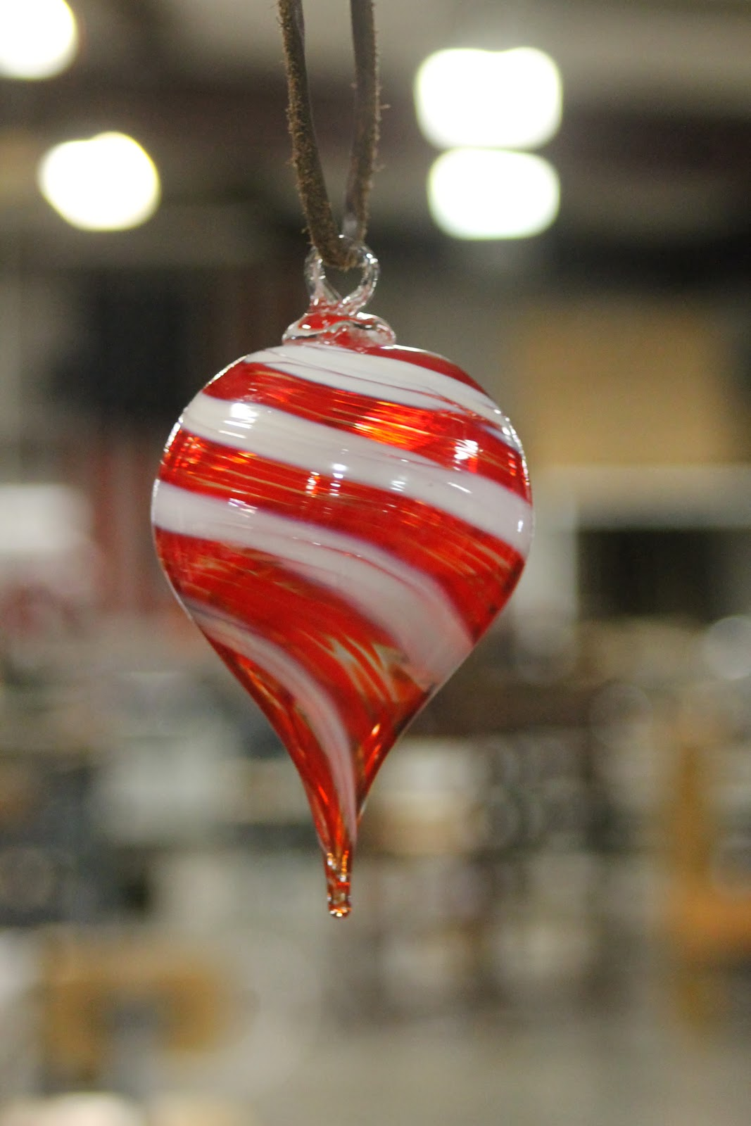 Blown Glass Christmas Ornament
