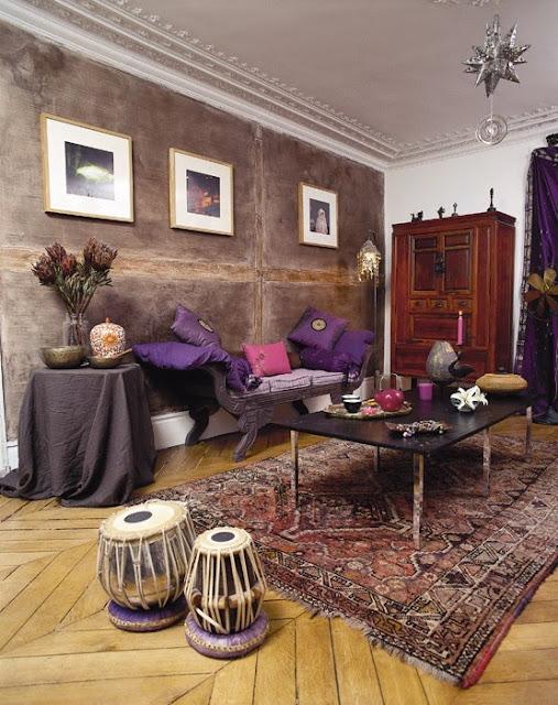 Orientalne dekoracje w salonie