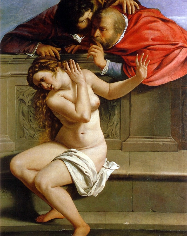 Artemisia Gentileschi 1593-1652 | Italian Baroque Era painter | Susanna and the Elders, 1610