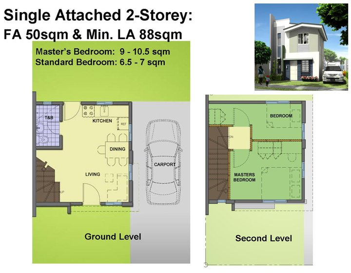 Phoebe house model of avida village iloilo by avida land for 2 storey apartment floor plans philippines