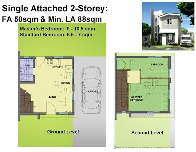 Phoebe house model of avida village iloilo by avida land for 2 storey apartment floor plans philippines