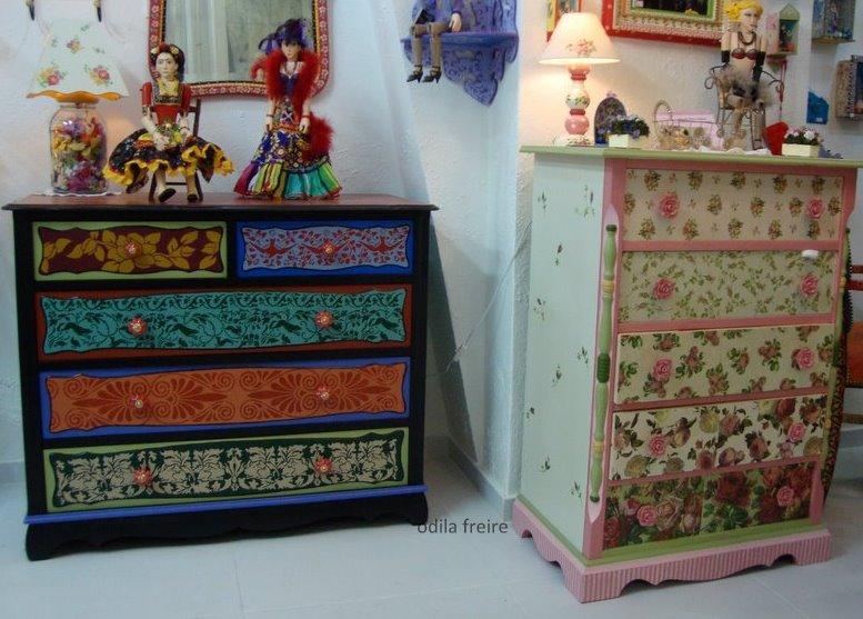 Reciclaje de muebles todo color restauraci n de muebles - Disenos muebles pintados ...