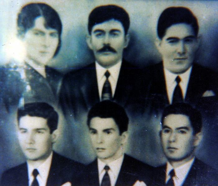 Camelia Ossa de Soto, Emiliano Soto López, hijos: Arday, Asdrubal, Ovidio, Iván. Año 1952