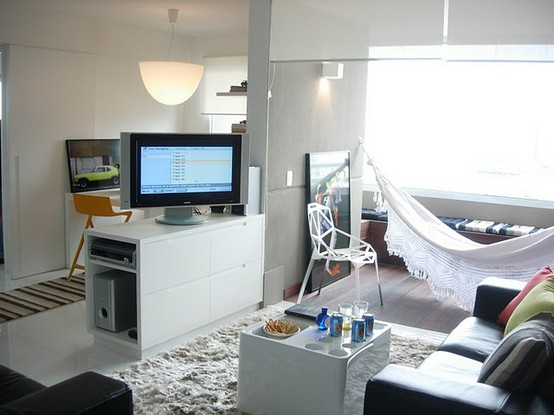 decoracao sala kitnet:blog de decoração – Arquitrecos: Rede na salaEu gosto e você?!!