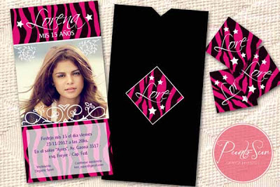 invitacion 15 años animal print