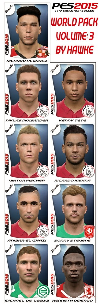 PES 2015 World FacePack Volume:3 by Hawke