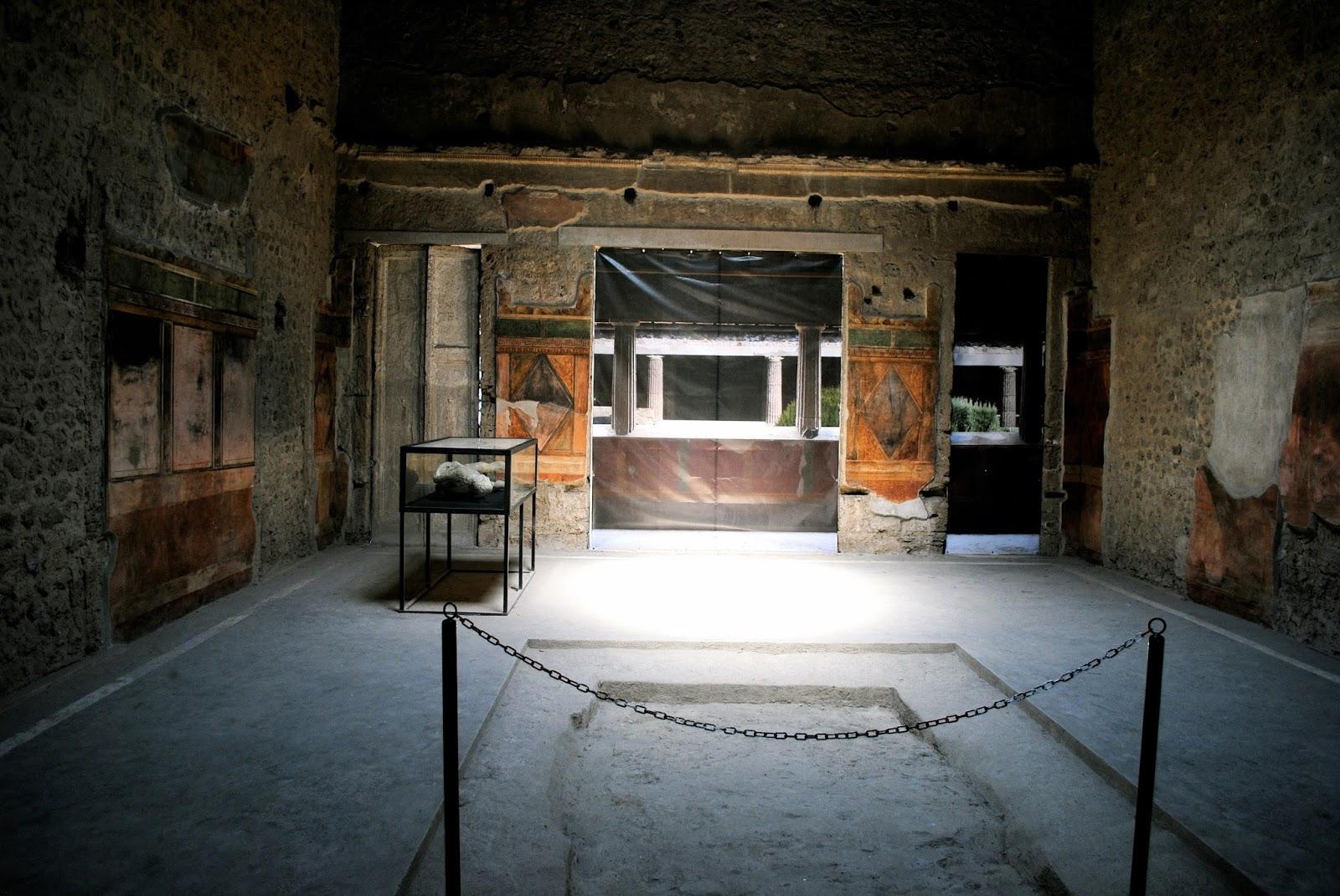 Villa of Mysteries in Pompeii Italy