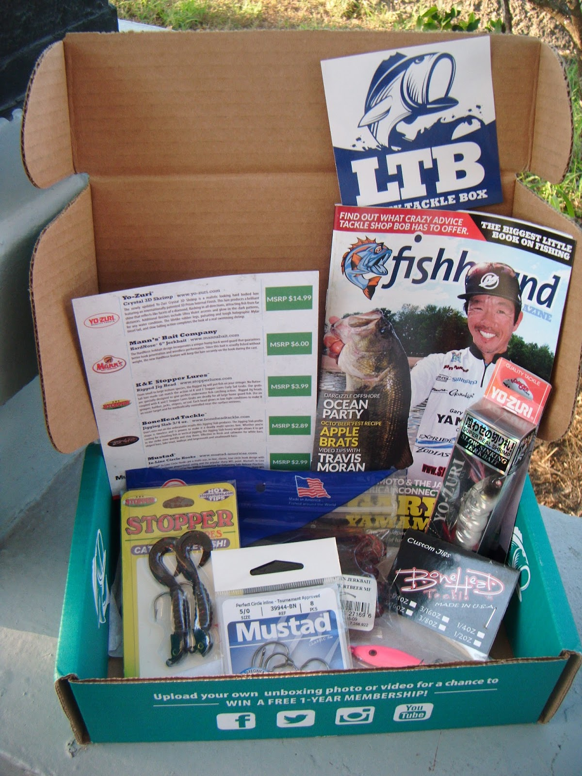 The abcd diaries holiday gift idea lucky tackle box for Fishing box subscription