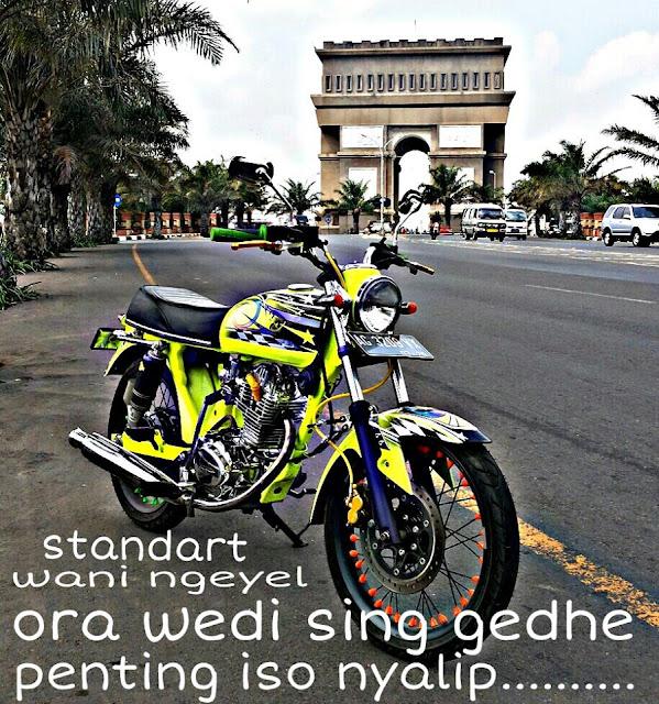 Foto Modifikasi Honda CB, Airbrush Keren Nganjuk Punya