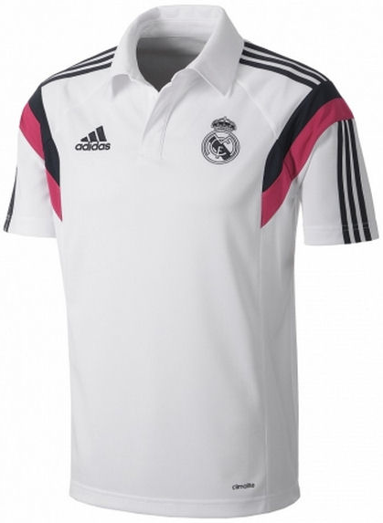 Thailand Quality 14 15 Real Madrid POLO Shirt White Training Soccer Jersey 2015 Real Madrid Football Shirt JAMES KROOS