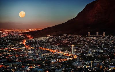 Hermosa vista nocturna en África del Sur (Wallpaper 1920x1200)