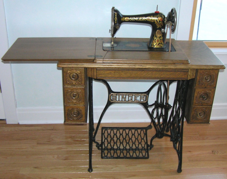 The Cabin Countess Treadle Sewing Machine Repurposed Adorable Trundle Sewing Machine