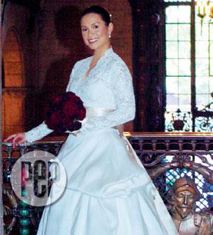 Lea salonga wedding dress pictures