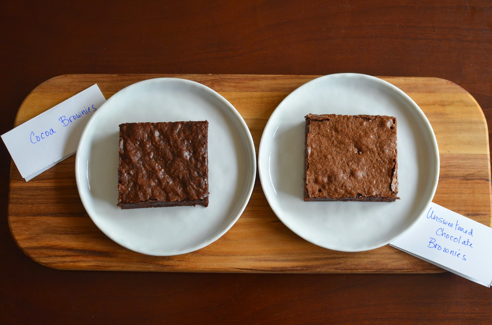 Playing with Flour: Brownie vs. Brownie (cocoa vs. unsweetened ...