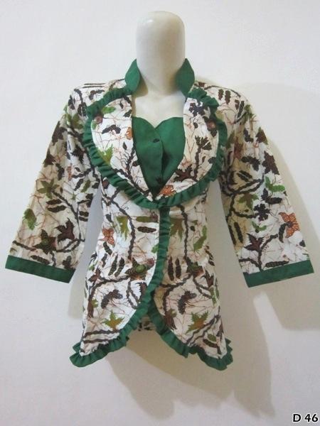 Model Blouse Batik Kantor Wanita Terbaru