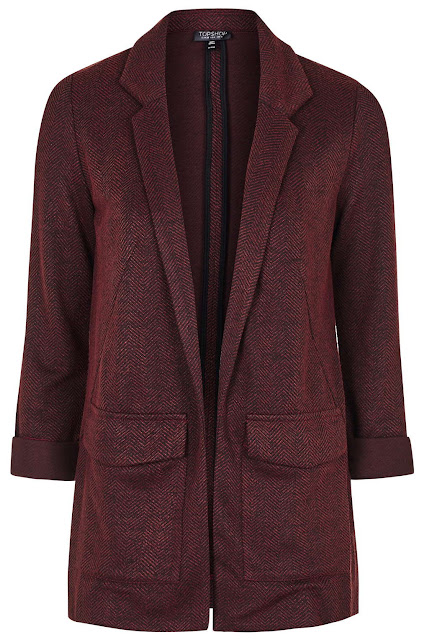burgundy herringbone coat