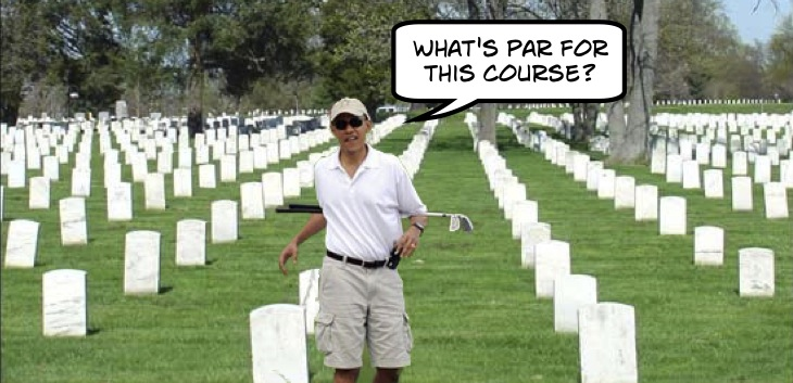 Barack Obama goes golfing on Memorial Day
