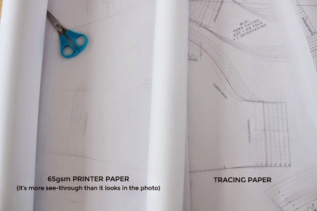 tilly and the buttons  tips for tracing sewing patterns