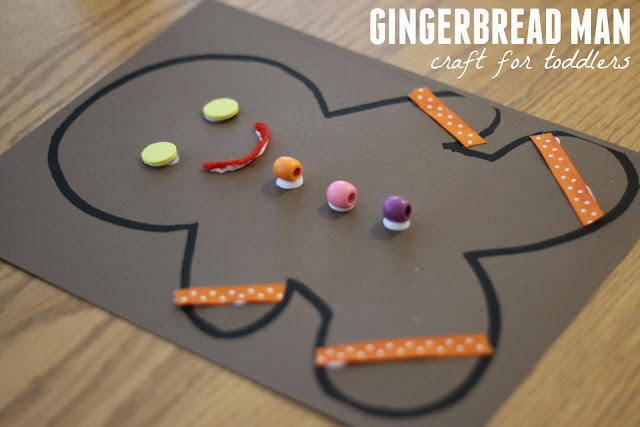 Toddler approved gingerbread man collage craft for Craft projects for guys