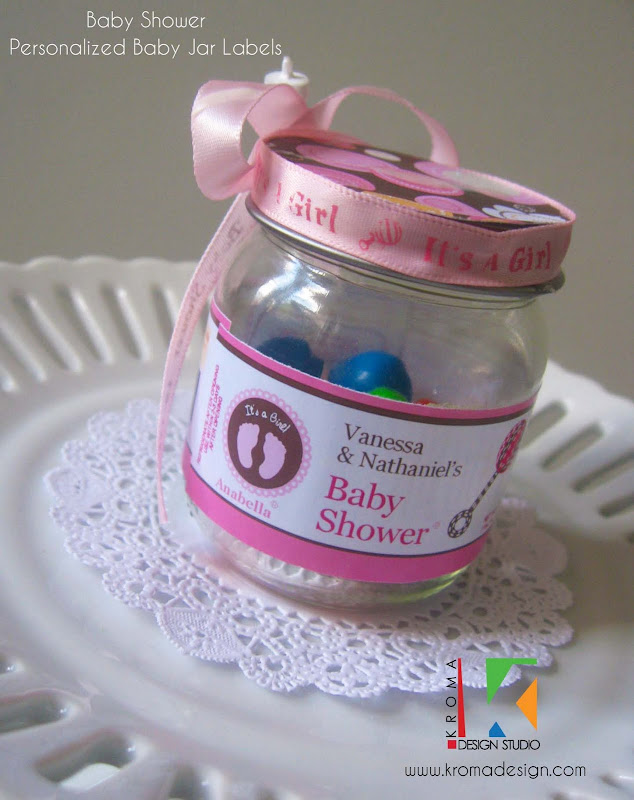 Baby Showers DIY Printable Baby Jar Label Favors for Baby Showers title=