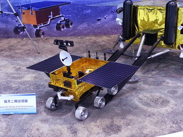 The model of Chang'e-3 lunar probe and rover, CZ-3B - Xichang. Credit: nasaspaceflight.com