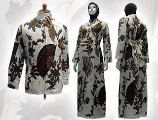 gamis batik muslimah