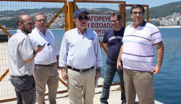Την εξέλιξη των έργων στο λιμάνι της Καβάλας επιθεώρησε ο Γιώργος Παυλίδης