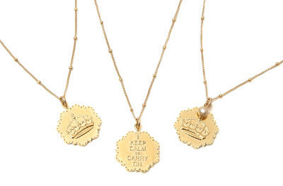 Sophia & Chloe Keep Calm and Carry On Jewelry