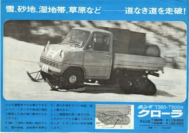 Honda T360, samochód z gąsienicami