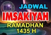 Jadwal Puasa (Imsakiyah) Ramadhan 1435 H / 2014 M Indonesia