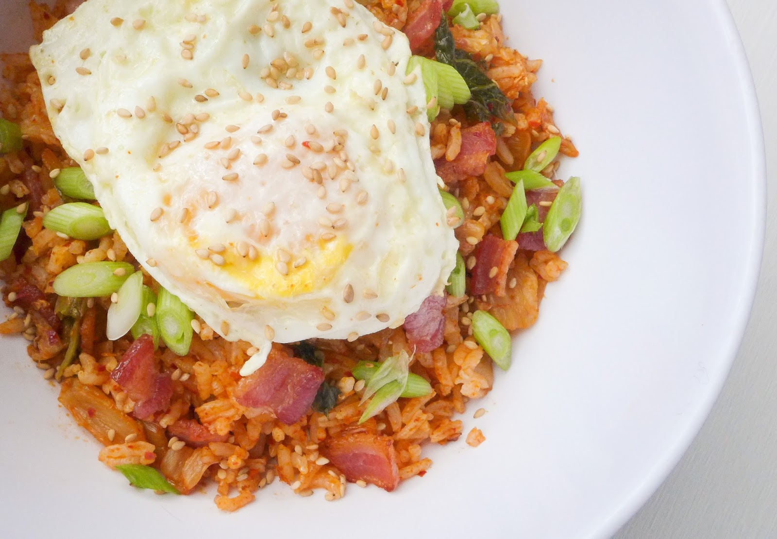 Dimples & Delights: Kimchi Bacon Fried Rice
