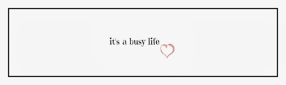 It's A Busy Life