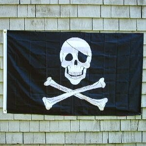 Skull and Cross Bones Pirate Flag